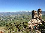 Photo du plateau Cerdan depuis Sant Feliu montagne Pyrénées Orientales