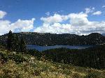Affiche du lac des Bouillouses montagne Pyrénées Orientales