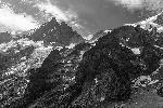 Photo noir et blanc montagne