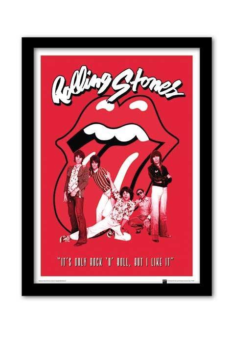 Affiche Encadr E Des Rolling Stones It 39 S Only Rock N Roll Acheter Affiche Encadr E Des Rolling