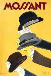 Affiche ancienne chapeaux Mossant