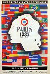 Affiche ancienne exposition universelle de Paris 1937