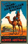 Affiche ancienne Travel by Trans-Australian Railway