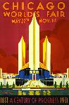 Affiche ancienne Chicago 1933 World's Fair
