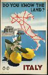 Affiche ancienne Do You Know the Land? Italy