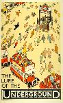 Affiche ancienne The Lure of the Underground