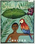Affiche ancienne publicité South America United