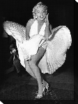 Impression sur toile photo Marilyn Monroe (Seven Year Itch)
