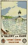 Affiche publicitaire vintage St. Valery en Caux, Seine-Maritime, Tennis Casino Yachting