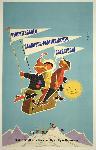 Affiche publicitaire vintage Bavarian Alps, Germany, Austria