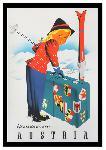 Affiche publicitaire vintage Autriche : Winter in Austria