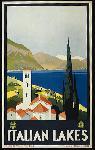Affiche publicitaire vintage Italian Lakes