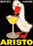 Affiche publicité vintage Cognac Aristo - Aristo Egg Cognac
