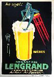 Affiche publicité vintage Brasserie Lengrand by G. Piana