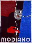 Affiche publicité vintage Modiano Cigarette