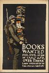 Affiche publicité vintage guerre Books Wanted for Our Men Over There