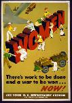 Affiche publicité vintage guerre Women, There's Work to Be Done and a War to be Won... Now!
