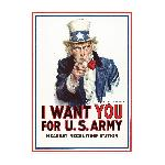 Affiche publicité vintage guerre I Want You for US Army, Nearest Recruiting Station