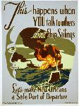 Affiche publicité vintage guerre This Happens When You Talk to Others About Ship Sailings