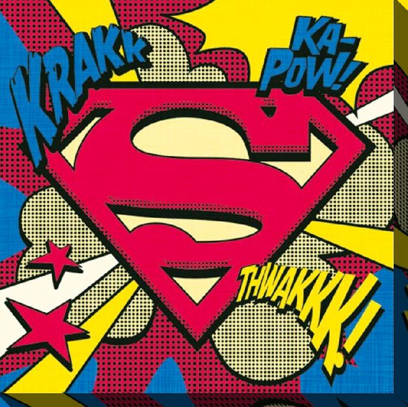 Toile Imprimée Du Logo De Superman Acheter Toile Imprimée