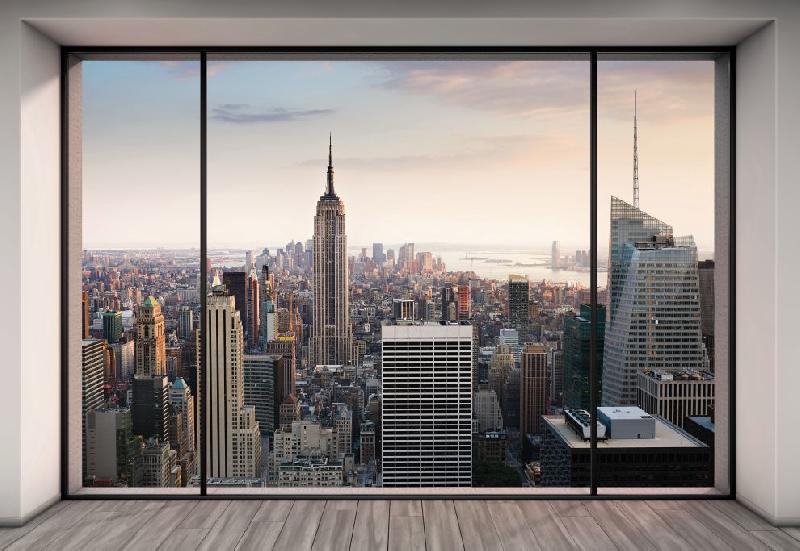 Acheter Photo murale dune vue magnifique depuis un loft newyorkais (8 ...