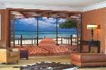 Tapisserie photo d'une vue sur une plage avec l'ocean (8 panneaux à coller)