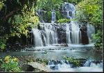 Photo murale d'une cascade impressionnante et magnifique (8 panneaux à coller)