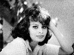 Poster noir et blanc de l'actrice Sophia Loren