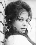Photo Noir et blanc de l'actrice Claudia Cardinale