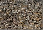 Photo murale d'un mur de pierre ensoleillé (8 panneaux à coller)