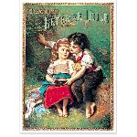 Affiche vintage Biscuits Lu Les Amoureux