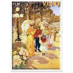 Affiche ancienne de Vichy Parc des Sources