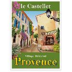 Affiche vintage Le Castellet Village Médiéval