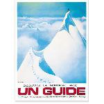 Affiche vintage Un Guide Chamonix