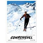 Affiche vintage de Courchevel