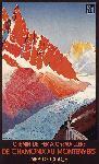Affiche ancienne chemin de fer Montenvers Chamonix