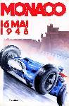 Affiche ancienne du grand prix de Monte Carlo 1948