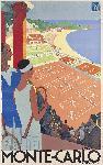 Affiche ancienne Tennis Monte Carlo
