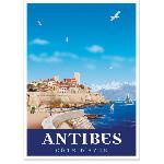 Affiche vintage Antibes