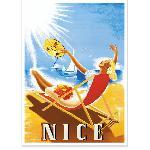 Affiche vintage Nice Bronzage