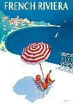 Affiche vintage La French Riviera