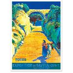 Affiche ancienne Foire Bastia Corse