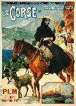 Affiche ancienne Corse Chèvres de Bonifacio
