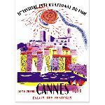 Affiche vintage du Festival de Cannes 1951