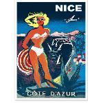 Affiche vintage de Nice Bikini