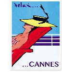 Affiche vintage Relax Cannes