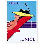 Affiche vintage Relax Nice