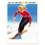 Affiche vintage Ski in the Sun Alpes