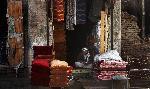 Photo d'un vendeur de tissu en Afghanistan