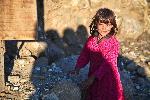 Photo d'une petite fille en Afghanistan